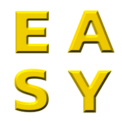 English Golden Alphabet beautiful