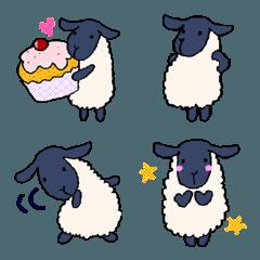 手描きの羊(サフォーク種)【絵文字】