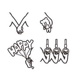 ()に手が生えたvol.3 シンプル-文字遊び