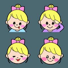 お団子女子♡カラフルポップちゃん(絵文字)