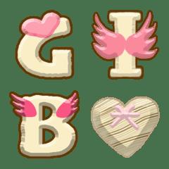 ミルクチョコレート絵文字アルファベット