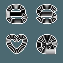 【ボールドストライプ】デコ文字 絵文字