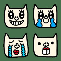 riekimの白ネコの顔絵文字