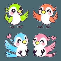 かわいい小鳥 【つながる絵文字】