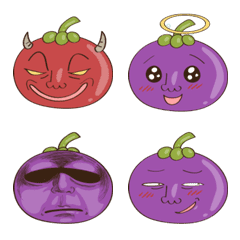 Mangosteen Emoji