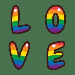 English alphabet rainbow