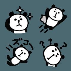 ゆるパンダ モノクロ日常絵文字