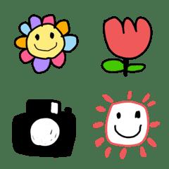 よく使うシンプル子供の絵風絵文字(1)