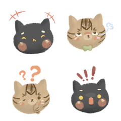 BoBo and cashew expression stickers  1