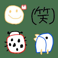 よく使うシンプル子供の絵風絵文字(2)