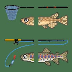 ドット絵文字 (淡水魚)