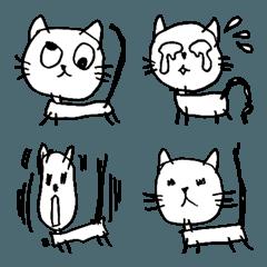 こどもが描いたネコの絵【絵文字】