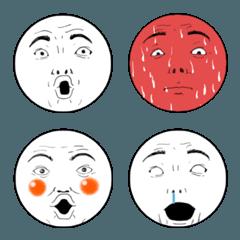 よくしゃべる顔 文字版