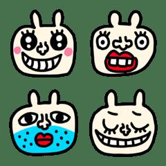 riekimのウサギの顔文字