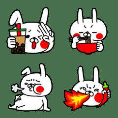 うぇーいうさぎの全力絵文字食べ物編