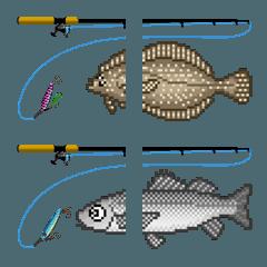 ドット絵文字 (海水魚 2)
