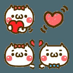 猫ちゃんのラブラブ絵文字★