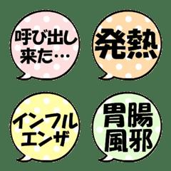 なんか可愛い吹き出し絵文字(病気1)