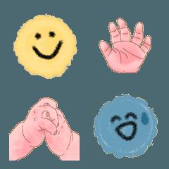 クレヨンスマイル&赤ちゃんの手絵文字