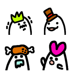 ぼうしおばけ 絵文字Part 1