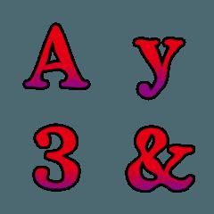 ホラー デコ文字(英数字)