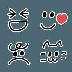 懐かしいシンプル顔文字*絵文字♡