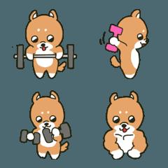 筋トレ犬2 絵文字