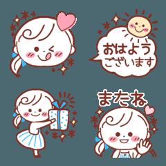 爽やか☆大人のシンプル丁寧♡絵文字**