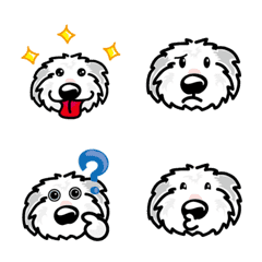Old English Sheepdog emjoi