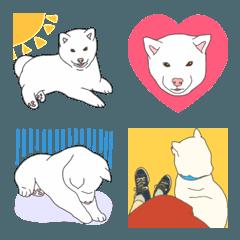 白柴犬の絵文字