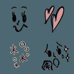 大人可愛い落書き風*シンプル絵文字