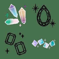 宝石とキラキラ