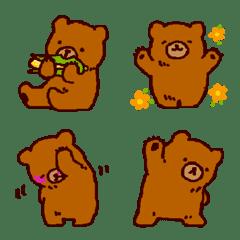 手描きのヒグマ【絵文字】