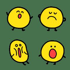 黄色いおまめちゃん 絵文字