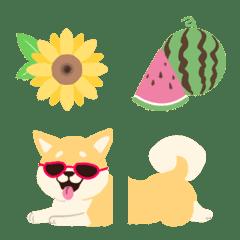 夏の芝犬☆絵文字