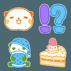 5色パンダ(絵文字)