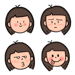 SaSa's facial expressions