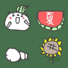 夏のパンダの絵文字♪