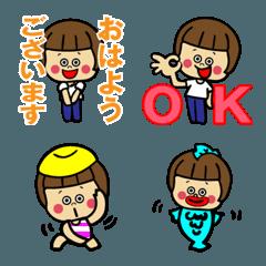 おかっぱちゃん★絵文字5