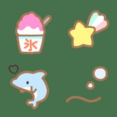 ★夏♡シンプル可愛い絵文字★