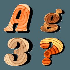 切株年輪模様の絵文字(ABC)