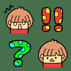 水玉文字と女の子1