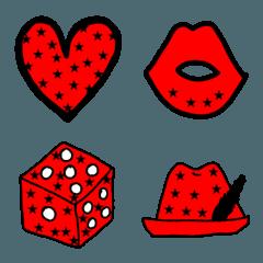 赤のシンプル絵文字