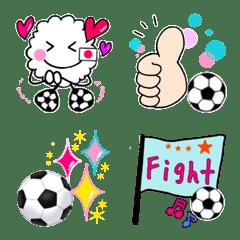 可愛いサッカー絵文字♡