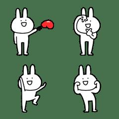 シュールでゆるすぎるウサギの絵文字