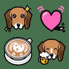 ビーグル犬U^ェ^U絵文字セット