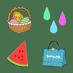 季節の絵文字 (春、夏)