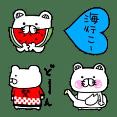 くま姫の絵文字④〜夏編〜
