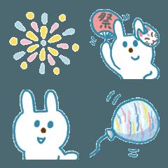 青いウサギとお祭り