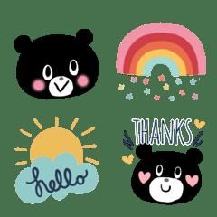 オトナ可愛い♡ゆるかわクマの北欧風顔文字